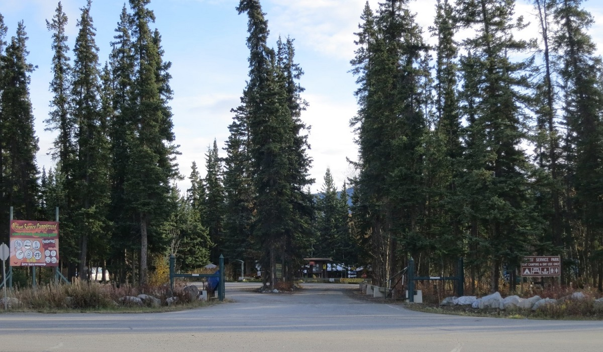 Robert Service Campground Entrance