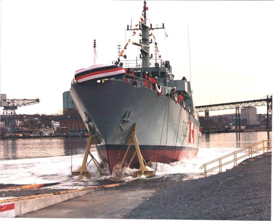 1997 Launched into the bay