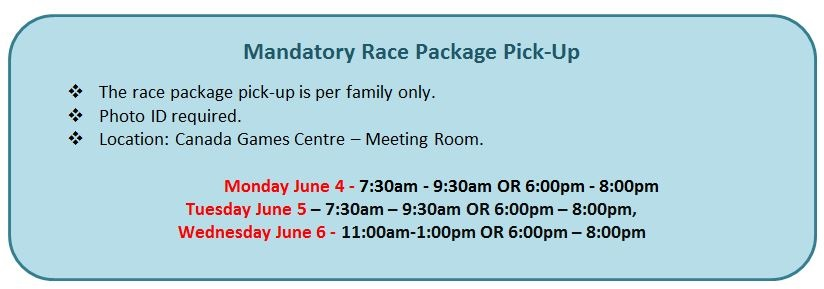 2016 Pre-Race Meeting Options