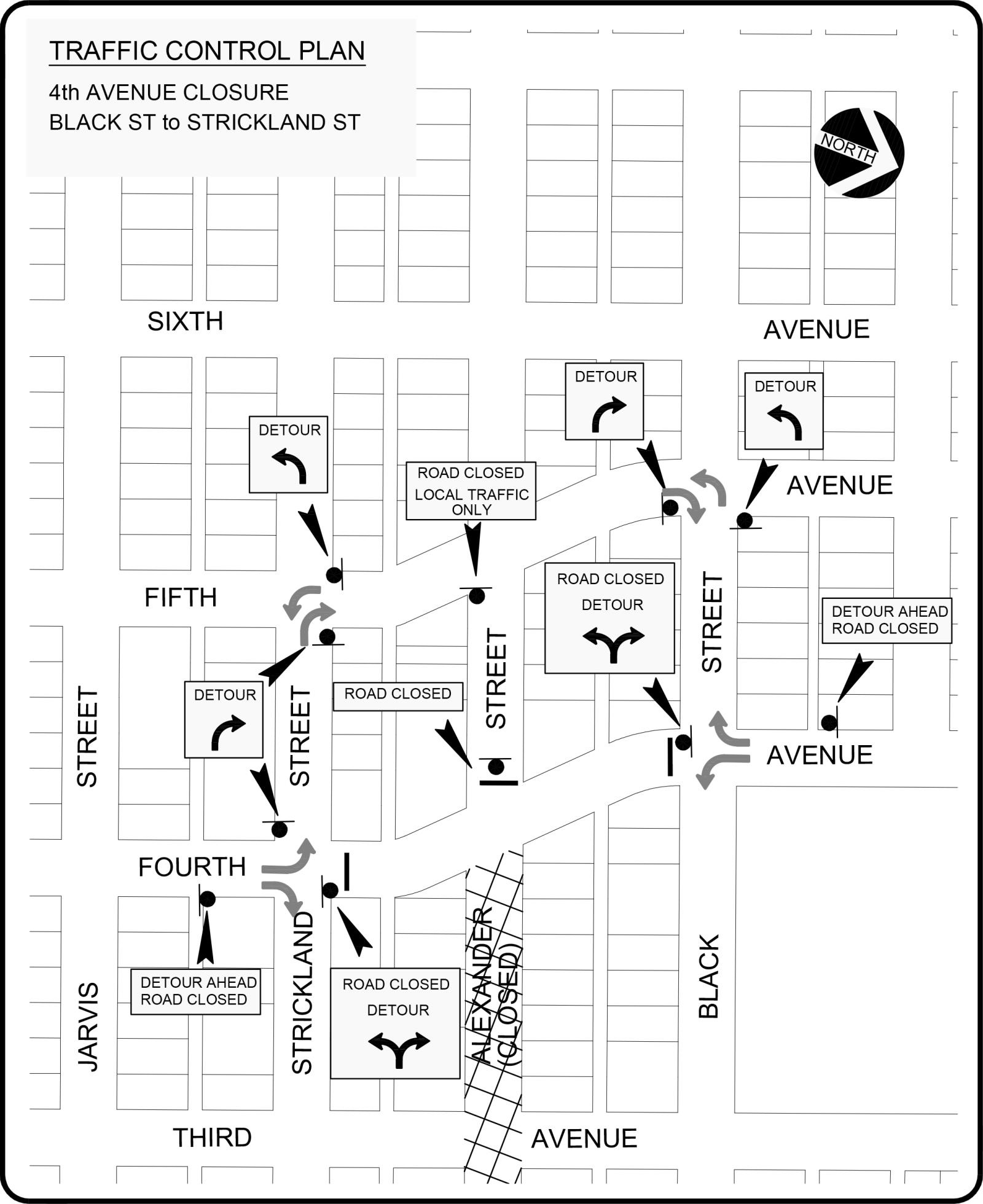 Road Closure Plan - 4th Avenue