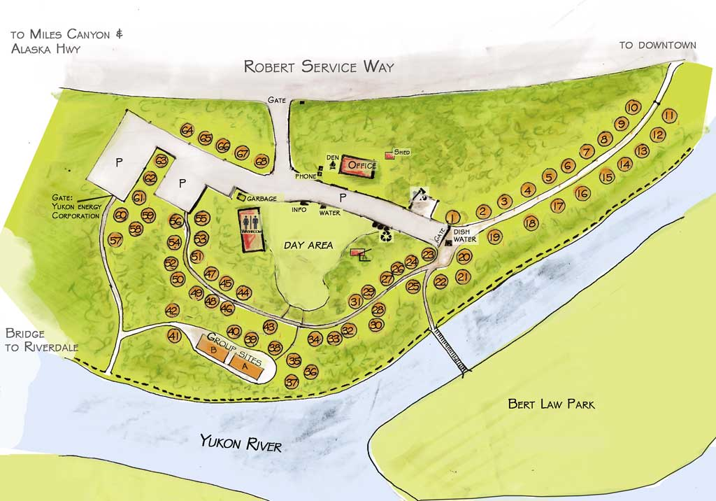 Robert Service Campground Map