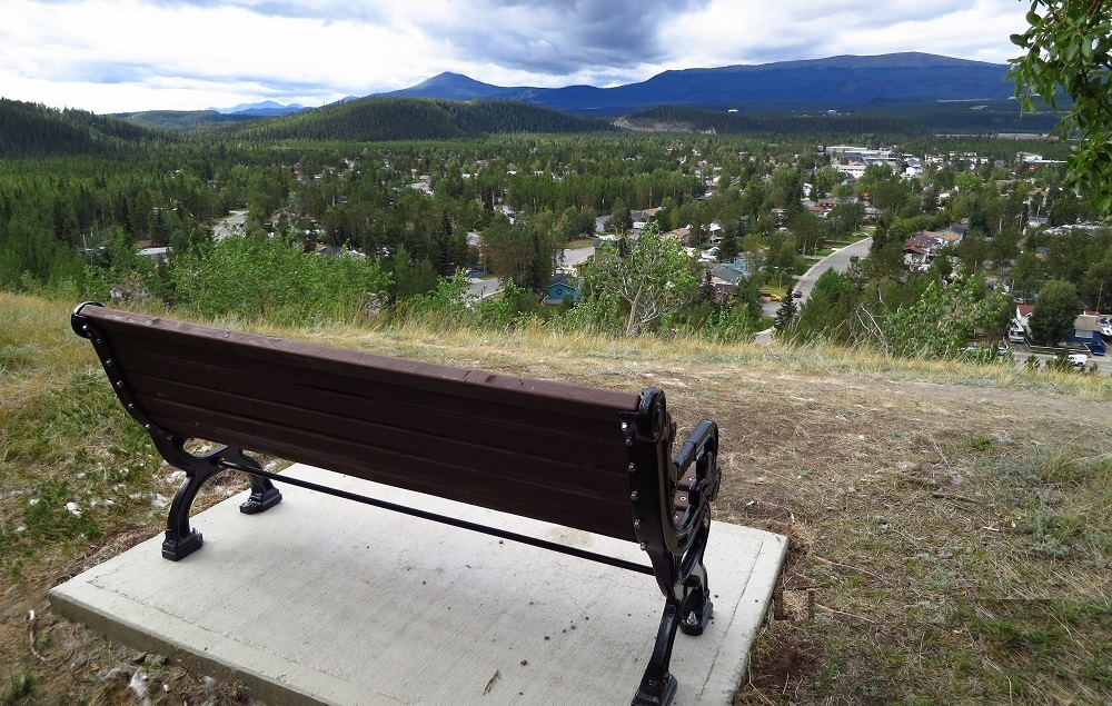Bench on Grey Mt. Road Lookout