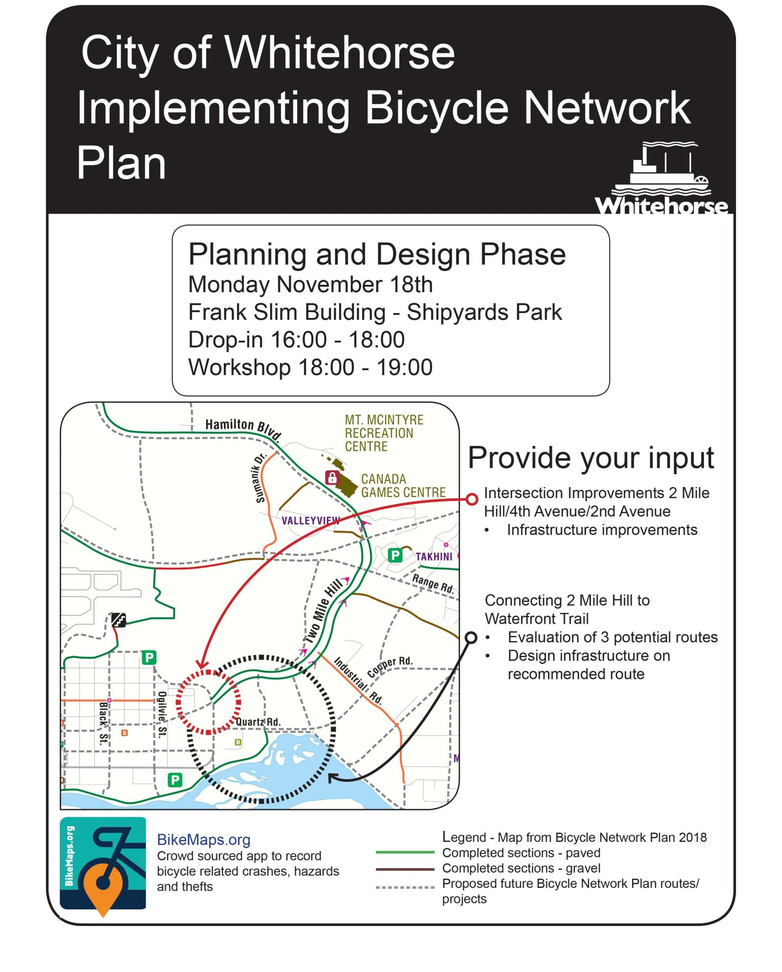 Event poster bicycle network plan and design Nov 2019