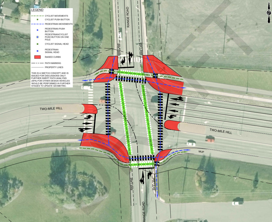Range Road-Two Mile Hill Intersection Option 1