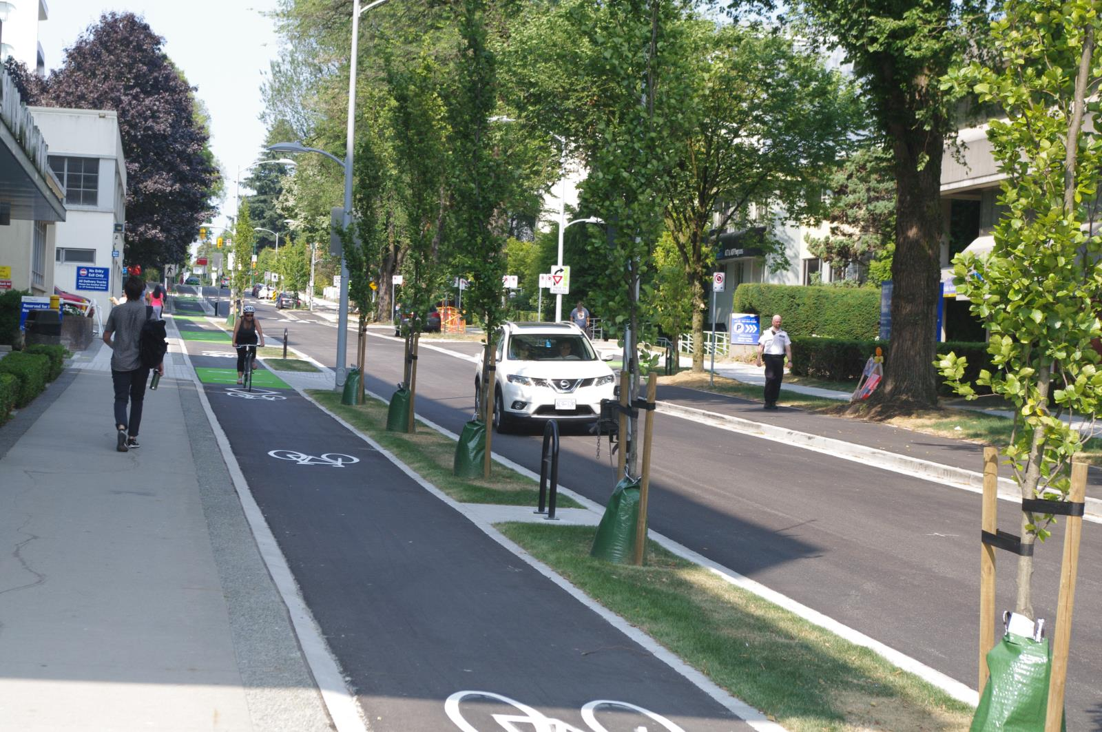raised cycle track