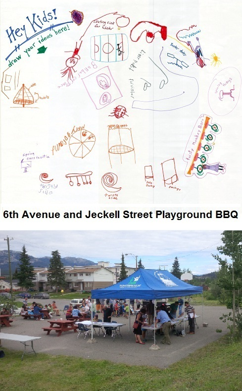 6th and Jeckell playground redesign BBQ